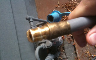 Gas Valve Installed by Gas Piping Aloha OR